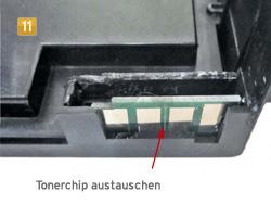 Samsung CLT-K 5082 S/ELS - Tonerchip austauschen