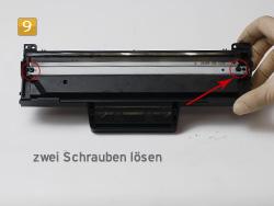 Samsung MLT-D 1042 S/ELS zwei Schrauben lösen