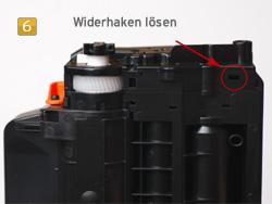 Samsung MLT-D 116 - Widerhaken lösen