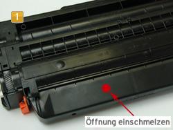 Samsung MLT-D 116 - Alttonerbehälter entleeren