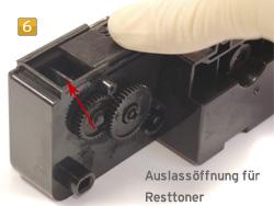 Samsung SCX-5312 D6/ELS - Resttonerbehälter entleeren