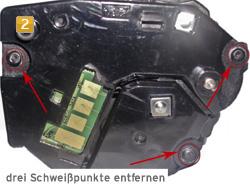 Samsung MLT-D 1052 - Schweißpunkte entfernen