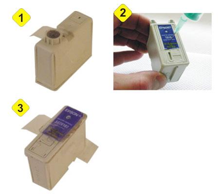 Refill Instruction for Epson Stylus Color, black cartridge