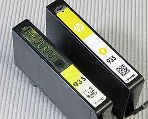 Vista del condotto dell'aria della cartuccia stampante HP 934