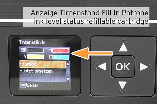 refillable Epson 29  successfully recognized with ink level status FULL