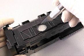 HP 410A  HP 410X Tonersack einschneiden