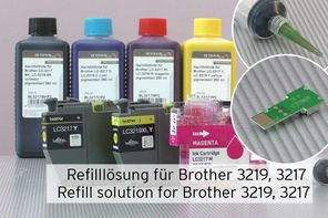 Nachfülltinte Refilltool Tintenchip Brother 3219 3217