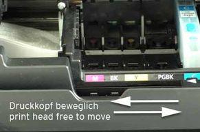 Canon Druckkopfschlitten frei beweglich