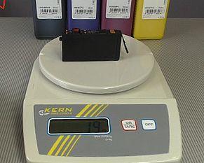 Tintenpatrone Gewicht wiegen