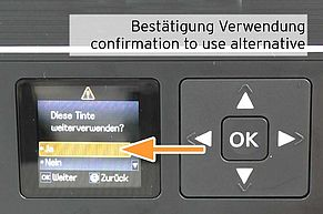 Confirm use of non-original cartridge replacing Epson 29