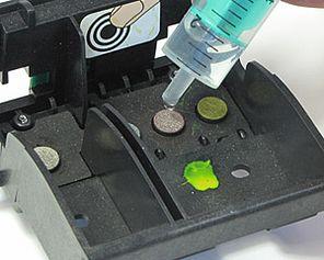 Permanentdruckkopf mit Druckkopfreiniger reinigen