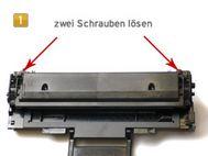Samsung MLT-D 1082 S/ELS zwei Schrauben lösen