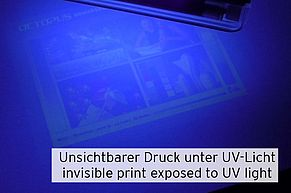 Print pictures using invisible printer ink