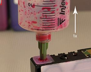 Canon IGP-2500 Estrarre l'aria residua