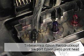Ingresso inchiostro della testina di stampa piezoelettrica Epson con tubo