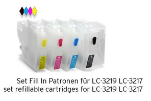 [Translate to Englisch:] Set Fill In Patronen alternative zu LC-3219 LC-3217