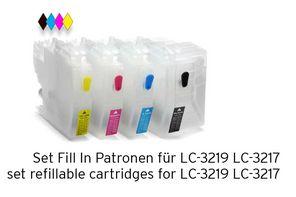 [Translate to Italienisch:] Set Fill In Patronen alternative zu LC-3219 LC-3217