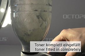 Check refill toner completely filled into TK-1160