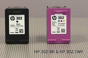 HP 302 BK & HP 302 CMY