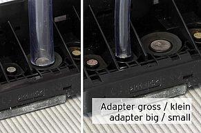 [Translate to Englisch:] Adapter für PGI Tinteneinlass sowie CLI Tinteneinlass