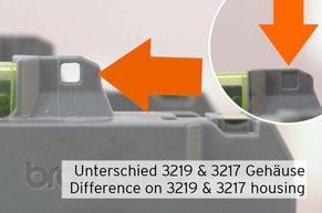 difference between LC-3219 and LC-3217 on their housing