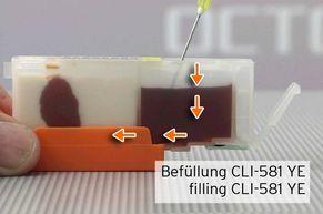 [Translate to Italienisch:] Tinte in befüllbare Druckerpatronen PGI-580 CLI-581 füllen