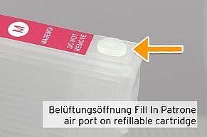 air port on refillable cartridge Epson 29