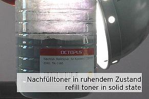 Refilltoner in Tonflasche im Ruhezustand