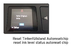 Reset ink level status Epson Expression Home