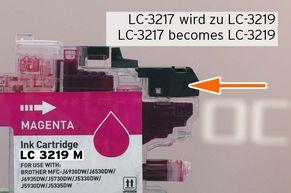 Impostare il supporto truciolo LC3219 sulla cartuccia