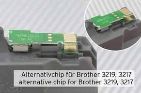 Alternativer Chip auf originaler Brother Tintenpatrone