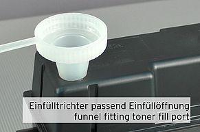 Einfülltrichter für Tonerpulver passend zur Einfüllöffnung