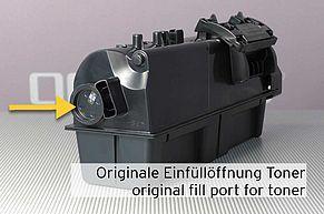 Originale Einfüllöffnung für das Tonerpulver an TK-1160