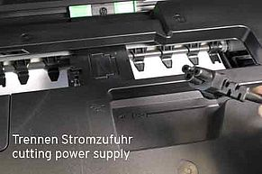 Disconnect Brother printer from electricity