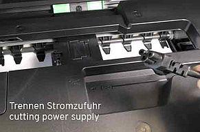 Brother Drucker von Stromzufuhr trennen