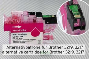 Alternative inkjet cartridge replacing Brother LC3219 or LC3217