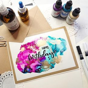 Alcohol Ink Alkoholtinte Handlettering