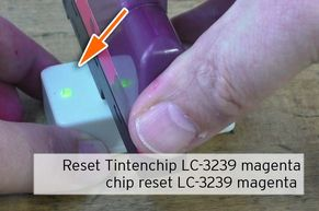 Reset chip Brother LC3239 magenta
