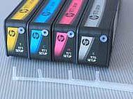 Collegamento delle linee di alimentazione inchiostro HP 970