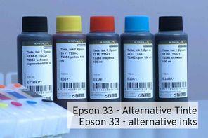 Tinte für Drucker mit Epson 33 Patronen