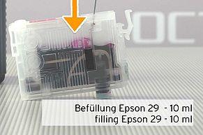 [Translate to Englisch:] Menge Nachfülltinte passend für Epson 29