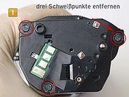 Samsung MLT-D 1042 S/ELS drei Schweißpunkte entfernen