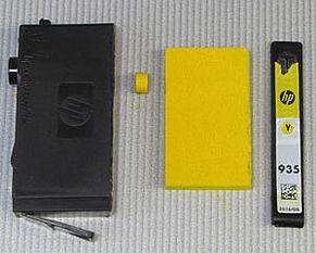 Tutti i componenti della cartuccia stampante HP 934, 935