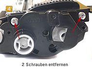 Brother TN-230, HL-3040 Schrauben lösen