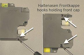 Alette di fissaggio del cappuccio anteriore del Brother LC-3217