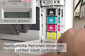 Nachgefüllte Epson Tintenpatronen einsetzen