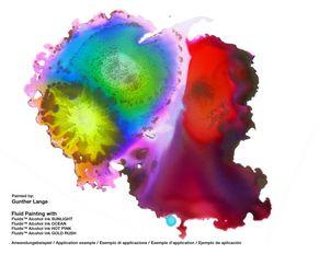 Faszinierendes Farbspiel mit Alcohol Inks