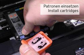 Installieren der befüllten Epson 33 Fill In Patronen