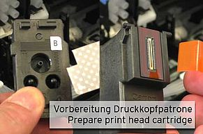 Prepare Canon print head prior installation