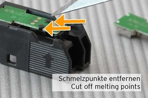 cut off melting points holding chip LC3217
